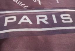 APRIS/ Ekskluzywna, francuska, czekoladowa apaszka PARIS, szal, chusta z Paryżą