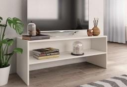 vidaXL Szafka pod TV, biała, 100 x 40 x 40 cm, płyta wiórowa800045