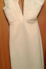 (36/S) ASOS/ Biała, ołówkowa sukienka wieczorowa/ NOWA-2