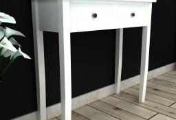 vidaXL Konsola z dwoma szufladami, biała241145
