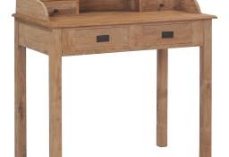 vidaXL Biurko, 90x50x100 cm, lite drewno tekowe282851