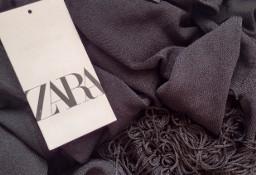 (36/S) ZARA/Długi sweter z frędzlami z Madrytu/płaszcz dzianinowy/NOWY