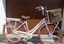 Rower miejski Gazelle Miss Grace pudrowy róż brokat