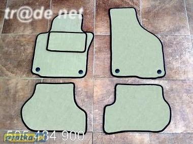Seat Leon II od 2005r. najwyższej jakości dywaniki samochodowe z grubego weluru z gumą od spodu, dedykowane SEAT Leon-1