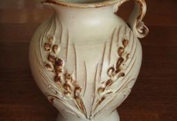 Ceramiczny dzbanek – wazon ręcznie wykonany z motywem kłosa  20 cm