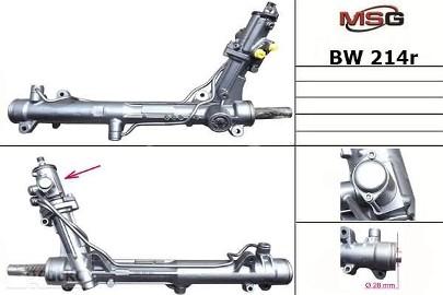 Przekładnia kierownicza ze wspomaganiem hydraulicznym Bmw 6 (E63), Bmw 6 (E64), Bmw 5 (E60), Bmw 5 (E61) BW214R
