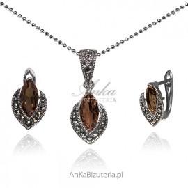 Biżuteria srebrna z SULTANITEM i markazytami