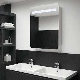 vidaXL Szafka łazienkowa z lustrem i LED, 60 x 11 x 80 cm285118