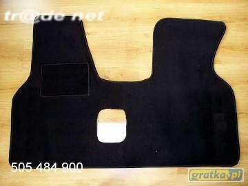 VW T4 1990-2003 siedzenia 1+2 najwyższej jakości dywaniki samochodowe z grubego weluru z gumą od spodu, dedykowane Volkswagen T-4
