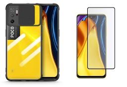 Etui Camshield + Szkło Hartowane do Xiaomi Poco M3 Pro 5G / Redmi Note 10 5G