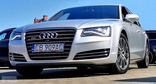 Audi A8 III (D4) 4,2 TDi Salon PL 1 ręka Full LED+Night View+360°