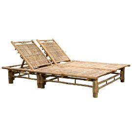 vidaXL Podwójny leżak, bambus 43715