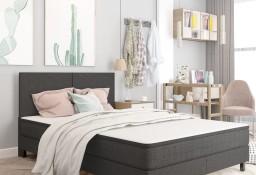 vidaXL Rama łóżka, szara, tapicerowana tkaniną, 140 x 200 cm287456