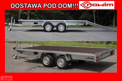 15.422 Przyczepa platforma towarowa ciężarowa uniwersalna hamowana Producent nowe przyczepy Nowim
