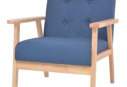 vidaXL Fotel, niebieski, tkanina244654