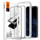 2x Szkło Hartowane Spigen Alm Glass Fc do iPhone 13 Pro Max Black