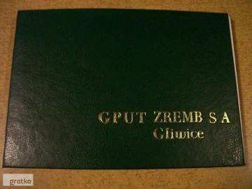 Instrukcja obsługi D.T.R. do wózka widłowego GPW Zremb Gliwice. Cena 50 zł.
