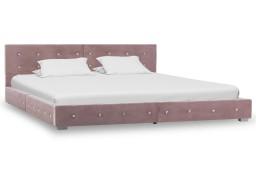 vidaXL Rama łóżka, różowa, tapicerowana aksamitem, 160 x 200 cm 280400