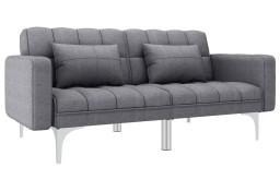 vidaXL Sofa rozkładana, jasnoszara, tapicerowana tkaniną247215