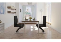 vidaXL Krzesła stołowe, 2 szt., czarne, sztuczna skóra 240042