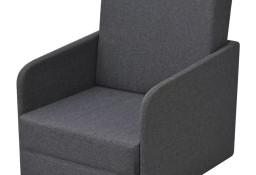 vidaXL Rozkładany fotel, ciemnoszary, tkanina 243649