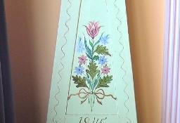 Zegar Stojący Mora Oryginał Skrzynia Drewnia Ręcznie malowana 1845 rok
