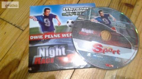 """gry na PC """"Menadżer piłkarski 2004 / 2005 , Night race"""""""