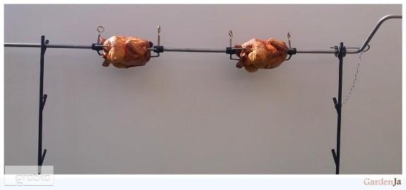 Rożen ogrodowy grill na kurczaki kuty ozdoba ruszt