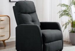 vidaXL Rozkładany fotel, ciemnoszary, tapicerowany tkaniną 289817