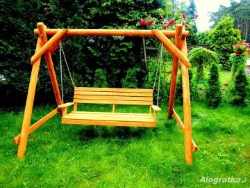 Meble ogrodowe huśtawki drewniane