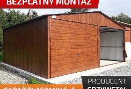Garaż blaszany 6x6 drewnopodobny dodatkowe drzwi gratis