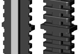 Łącznik plastikowy z rdzeniem metalowym do profili aluminiowych typ I, 50x20x2