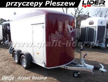 DB-005 przyczepa C500, bagażowa, do motocykli 313x165x195cm, ściany z aluminium, hamowana Debon Cheval Liberte Fourgon + drzwi boczne, ...