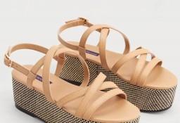 (40) MANGO/ Ekskluzywne sandałki, koturny, sandały z Madrytu/ NOWE