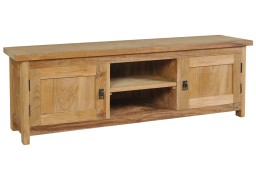 vidaXL Szafka pod telewizor, lite drewno tekowe, 120 x 30 x 40 cm244485
