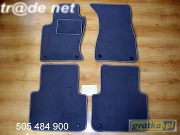 AUDI A8 D3 2002 - 2010 najwyższej jakości dywaniki samochodowe z grubego weluru z gumą od spodu, dedykowane Audi A8