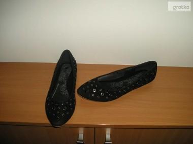 nowe czarne baleriny 38 24cm. House-1