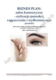 BIZNESPLAN salon kosmetyczny - stylizacja paznokci, zagęszczanie i wydłużanie rzęs 2019 (przykład)