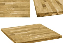 vidaXL Kwadratowy blat do stolika z drewna dębowego, 44 mm, 80 x 80 cm245999