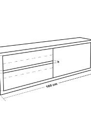Szafka ścienna stal nierdzewna przesuwne drzwi 160x65x40cm-2