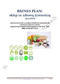 BIZNESPLAN sklep ze zdrową żywnością (przykład) 2018