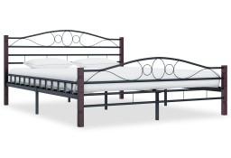 vidaXL Rama łóżka, czarna, metalowa, 160 x 200 cm 285294