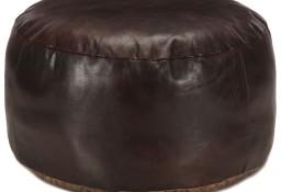 vidaXL Puf, ciemnobrązowy, 60x30 cm, prawdziwa kozia skóra248139