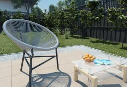 vidaXL Owalne krzesło ogrodowe, polirattan, szare 44481