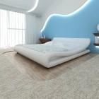 vidaXL Rama łóżka, biała, sztuczna skóra, 180 x 200 cm 240829