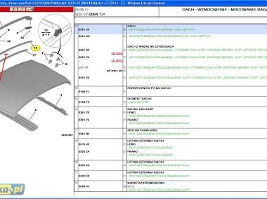 LISTWA OZDOBNA DACHU RELING CITROEN C3 / C3 II 8319 J9 lub 8319 E4 Citroen C3-1