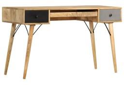 vidaXL Biurko z szufladami, 130 x 50 x 80 cm, lite drewno mango285823