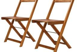 vidaXL Krzesła bistro, ogrodowe, 2 szt., lite drewno akacjowe 44012