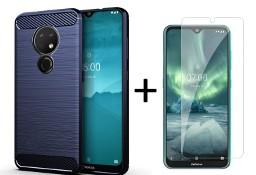 Etui pancerne + szkło do Nokia 6.2 / 7.2 niebieski