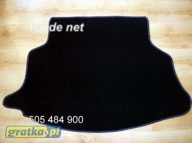 Nissan Almera Tino od 2001 r. najwyższej jakości bagażnikowa mata samochodowa z grubego weluru z gumą od spodu, dedykowana Nissan Almera-1